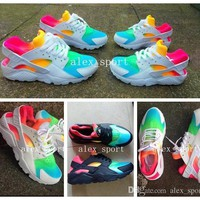 2016 Fashion Air Huarache Ultra Running Shoes Huaraches Rainbow Ultra Breathe Shoes Me
