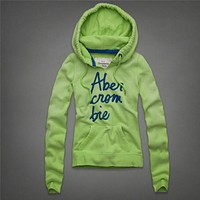 Abercrombie & Fitch Women Hooded Long Sleeve Top Sweater Hoodie