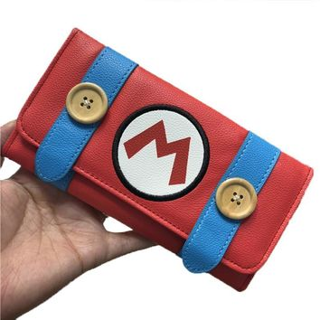 Super Mario party nes switch Game  Long Wallet PU Large Clutch Bag Hasp Wallet Purses Card Holder Cosplay Prop AT_80_8