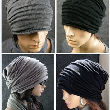 2014 Fashion Cool Ruffle layers circles beanie hats with big ball womens and girl gorras hat bonnet gorro Beanies winter hats for women Knit cap beanie gorros woman female girls outdoor wool cap Letter Beanie Warm ski Sport knitted hat caps = 1958465348