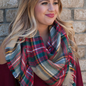 Taupe Blanket Scarf