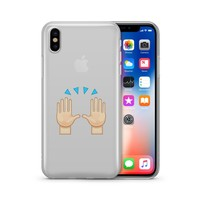 Hallelujah Emoji - Clear TPU Case Cover