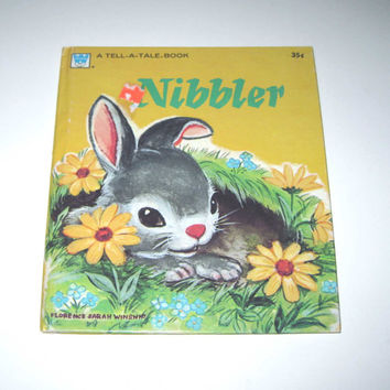 Bunny Button Vintage Children's Book By Whitman Illustrated by Florence Sara Winship