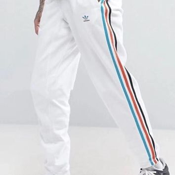 """Adidas"" Unisex Casual Multicolor Stripe Sweatpants Couple Leisure Pants Trousers"