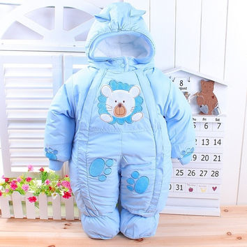 The best quality girl boy newborn baby winter wadded jacket cotton-padded jacket infant year old autumn and winter child romper = 1930349124