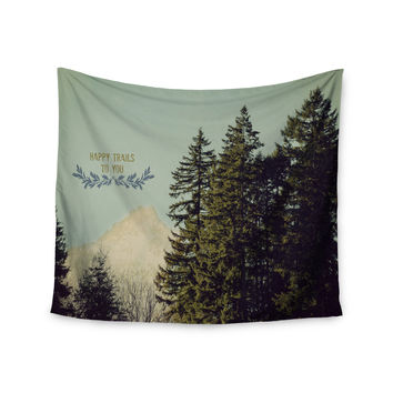 "Robin Dickinson ""Happy Trails"" Green Wall Tapestry"