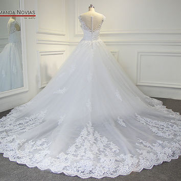 b68c282f87d3c Luxury Long Train Wedding Dress Wedding Gown Real Pictures