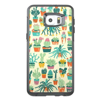 Colorful Cactus Flower Pattern OtterBox Samsung Galaxy S6 Edge Plus Case