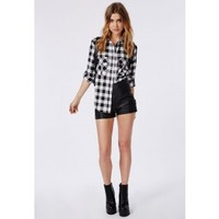 Missguided - Monochrome Check Shirt