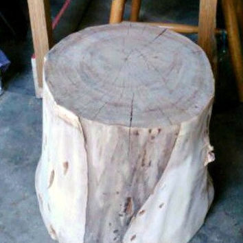 Log Stump Table, Wood Table, Night Stand, End Table, Side Table By DeerwoodCreekGifts
