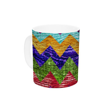 "Beth Engel ""Natural Flow"" Chevron Ceramic Coffee Mug"
