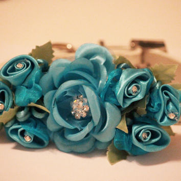 Blue Wedding Dog Collar, Pet wedding, Beach wedding, Some thing blue