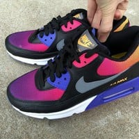 Tagre™  Nike Air Max 90 Women Sport Casual Gradient Color Air Cushion Sneakers Running Shoes