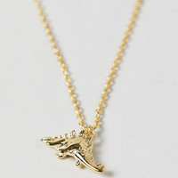 Orelia gold plated dinosaur pendant necklace at asos.com