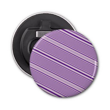 Purple Stripes Bottle Opener