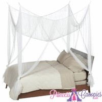 Four Point Canopy White, Canopy Four Post Bed Material, Buy Inexpensive Canopies Mosquito Netting