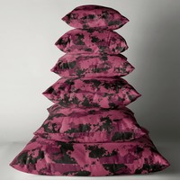 'Burgundy and Black Abstract' Throw Pillow by Christy Leigh