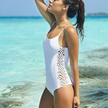 Malai Swimwear Blanc Shore Bow Swimsuit