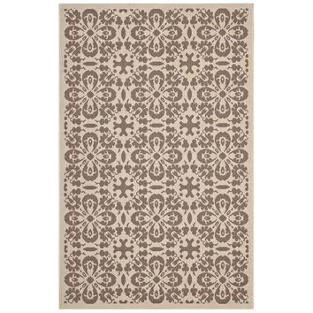 Ariana Vintage Floral Trellis 5x8 Indoor and Outdoor Area Rug