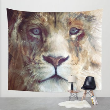 Lion // Majesty Wall Tapestry by Amy Hamilton
