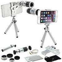 Pioneer 4 in 1 Mobile Camera Lens Kit for Smartphones (5 Items)