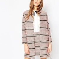 ASOS Premium Boucle Stripe Jacket Co-ord at asos.com