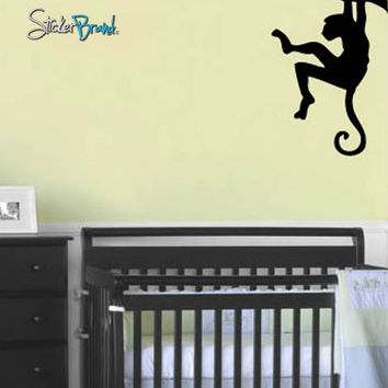 Vinyl Wall Art Decal Safari Monkey on Tree Branch #165