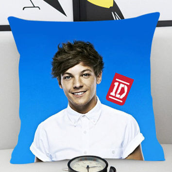 Louis Tomlinson 1D  - Pillow Cover by PillowKesetiaan.
