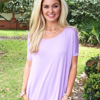 Light & Flowy PIKO Top In Light Purple