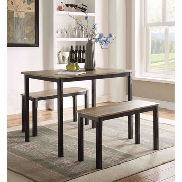 Tool less Boltzero Dining Table with 2 Benches -