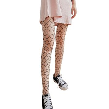 Large Hole Pearl Fishnet Tights 3 Colors
