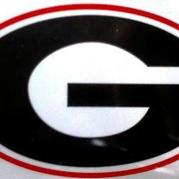 Georgia Bulldogs Reusable JUMBO Cling Auto Window Static Decal University of
