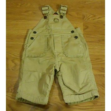 Baby Gap Overalls Boys 3-6M Cotton Beige Solid -- Used