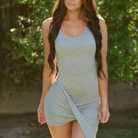 Classic Asymmetric Dress - Grey