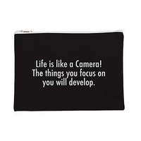 Life Is Like A Camera Flat Pouch - PFFTPCH007