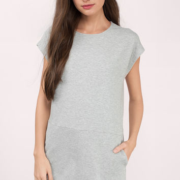 At Ease Sweatshirt Shift Dress