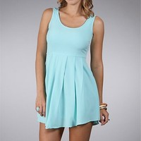 Mint Short Pleated Dresses