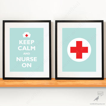 Set of 2 Nurse Posters, Nurse gift, Nursing Student gift, Nurse Practioner, Graduation, Nurse decor