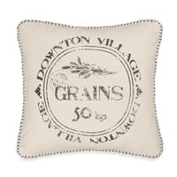 Downton Abbey® Village Collection Grains Square Throw Pillow