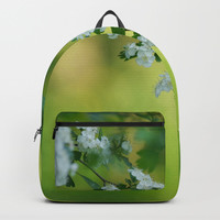 Floral frame Backpack by tanjariedel