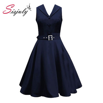 2016 Bridess  50s 60s Women Vintage Dresses Summer Elegant  Dress Sleeveless Party Dresses