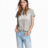 Jersey Top with Printed Design - from H&M
