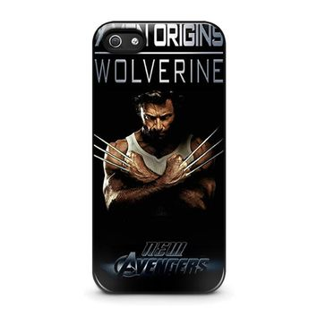 wolverine marvel iphone 5 5s se case cover  number 1