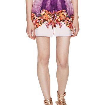Harriet Dusty Silk Print Wrap Skort