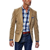 Haggar 1926 Originals Slim-Fit Solid Twill Khaki Sport Coat