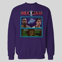 MALONE & STOCKTON BASKETBALL VIDEO GAME JAM GAME PARODY BASKETBALL SWEATER / HOODIE