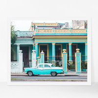 Colorful Wall Art, Classic Car Print, Havana Photography, Cuba Art, Travel Photography, Travel Gift, Large Wall Decor, Original Art