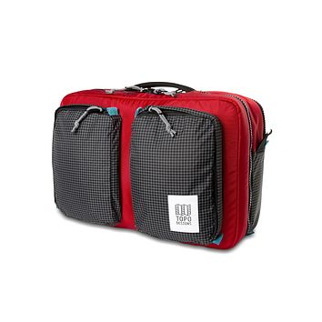 Topo Designs -  Red Black Ripstop Unisex Global 3 Day Briefcase