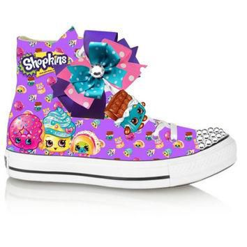 Purple Limited edition shopkins CHEEKY CHOCOLATE inspired shoe (NON-CONVERSE)