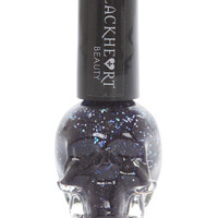 Blackheart Navy Iridescent Glitter Nail Polish
